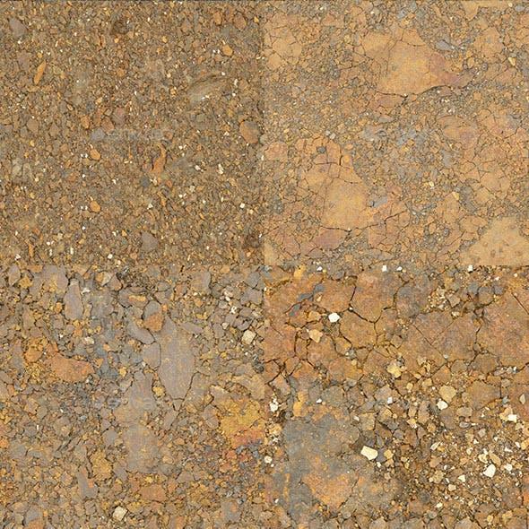 Set of 10 Seamless Metal Debris Textures