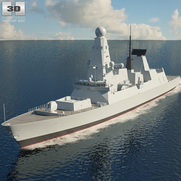 HMS Daring D32 - 3DOcean Item for Sale