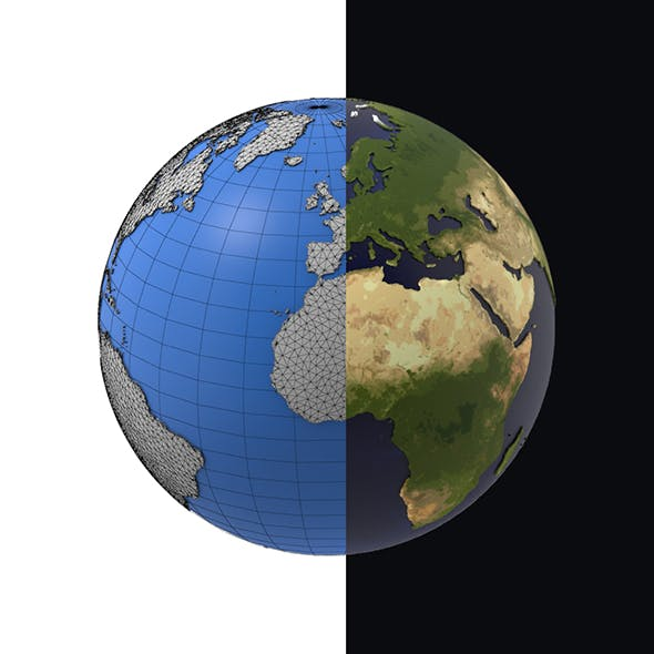 Earth detailed design graphic