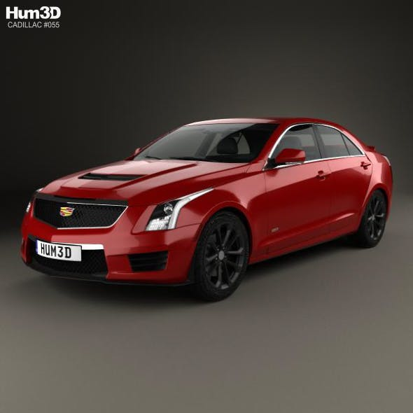 Cadillac ATS-V sedan 2017 - 3DOcean Item for Sale