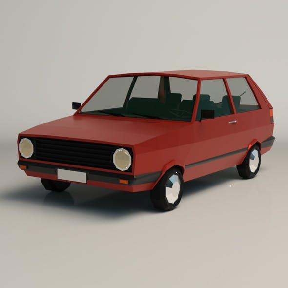 Low Poly Cartoon City Car 03