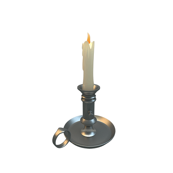 Melted Candle - 3DOcean Item for Sale