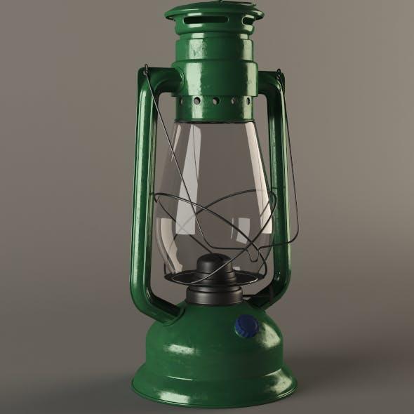 Gas (Kerosene) Lamp - 3DOcean Item for Sale