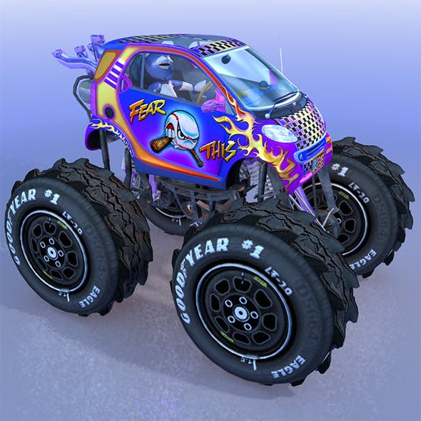 Monstertruck Smart - 3DOcean Item for Sale