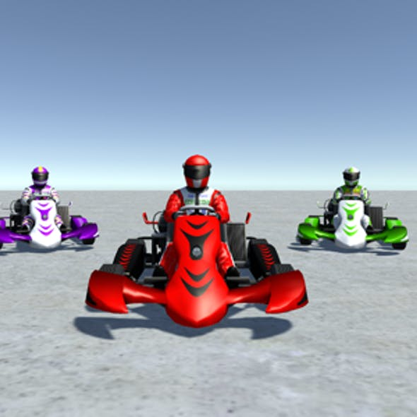 5 Low Poly Karts With Player Pack - 3