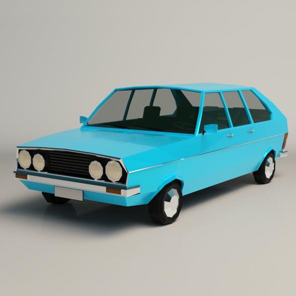 Low Poly Sedan Car 03 - 3DOcean Item for Sale