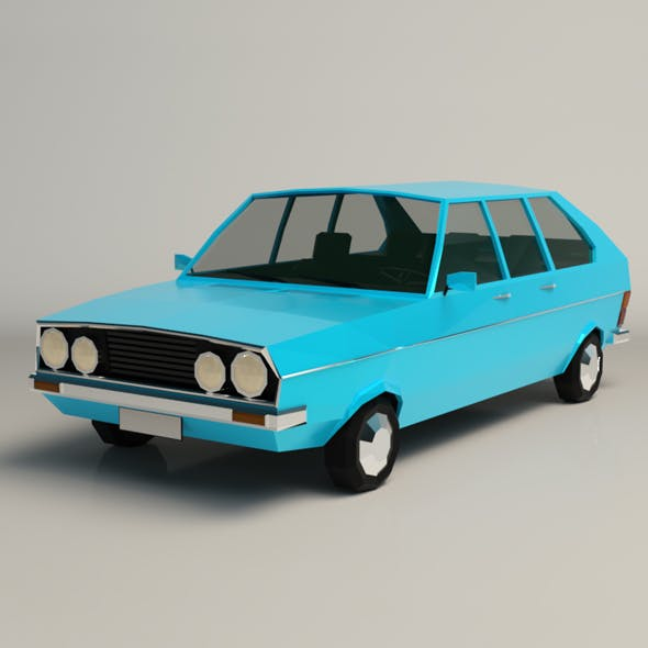 Low Poly Sedan Car 03