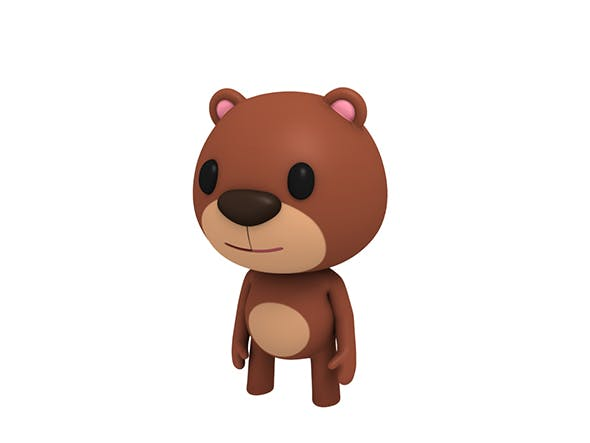 Rigged Little Bear - 3DOcean Item for Sale