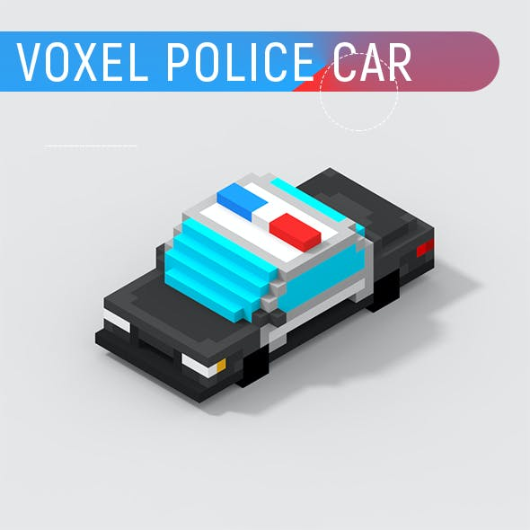 Voxel Police Car