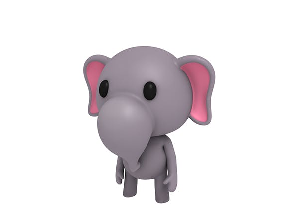 Rigged Little Elephant - 3DOcean Item for Sale