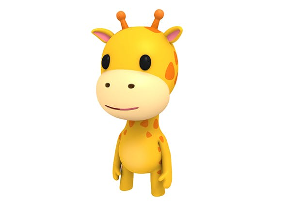 Rigged Little Giraffe - 3DOcean Item for Sale