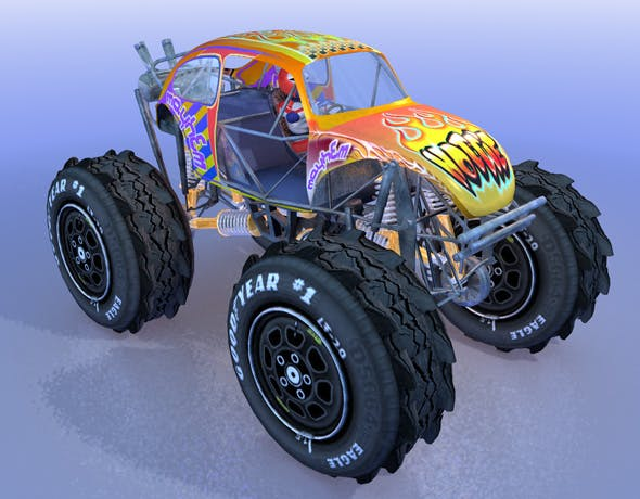 Monstertruck Beetle - 3DOcean Item for Sale