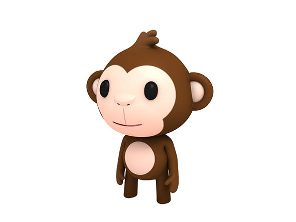 Rigged Little Monkey - 3DOcean Item for Sale