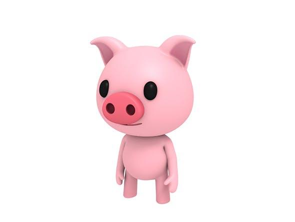 Rigged Little Pig - 3DOcean Item for Sale