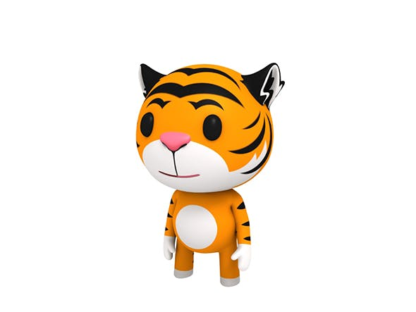 Rigged Little Tiger - 3DOcean Item for Sale