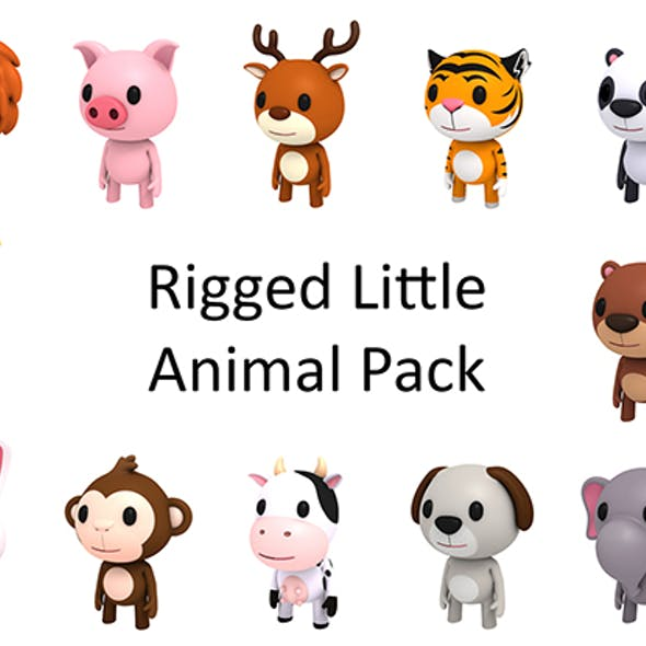 Rigged Little Animal Pack