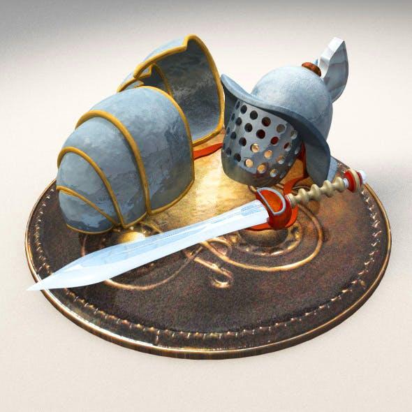 Gladiator Gear - 3DOcean Item for Sale