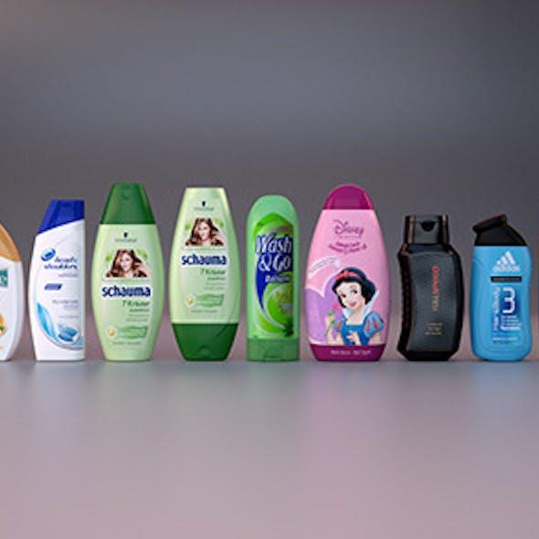 14 shampoo bottles - set 1