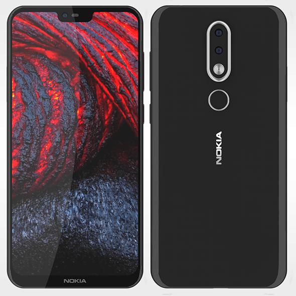 Nokia X6 Nokia 6-1 Plus - 3DOcean Item for Sale
