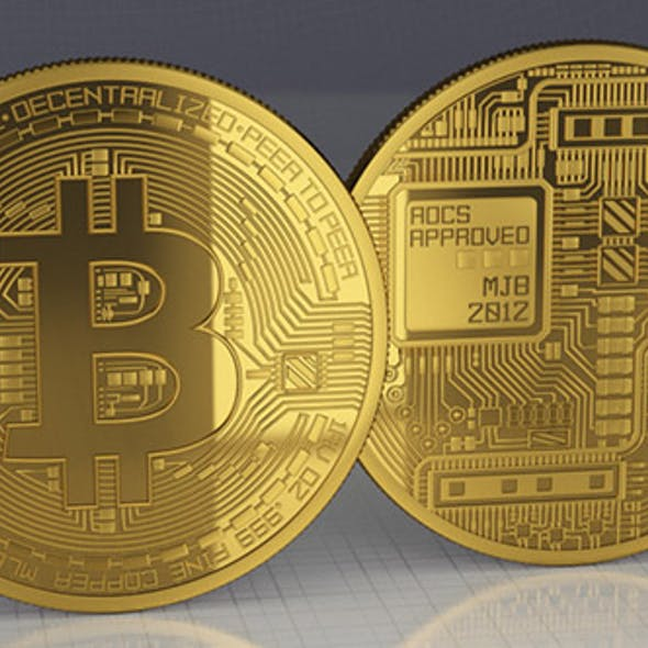 Bitcoin - high poly, real 3d model