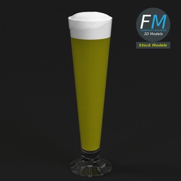 Glass with beer 3 - 3DOcean Item for Sale