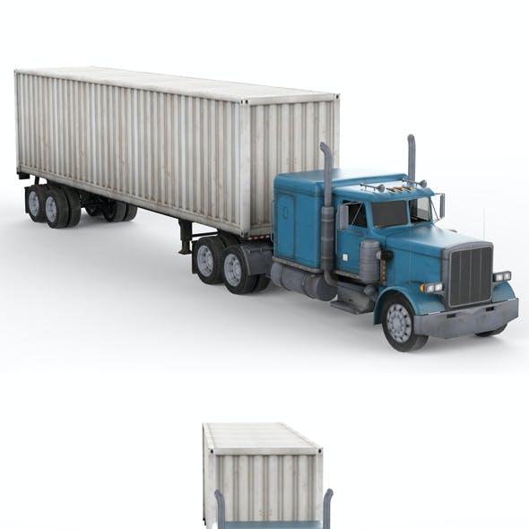 Truck with Semi-Trailer