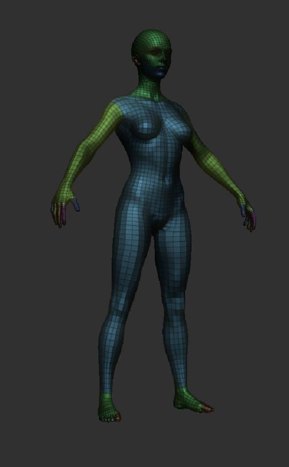BaseMesh Female 3D - 3DOcean Item for Sale