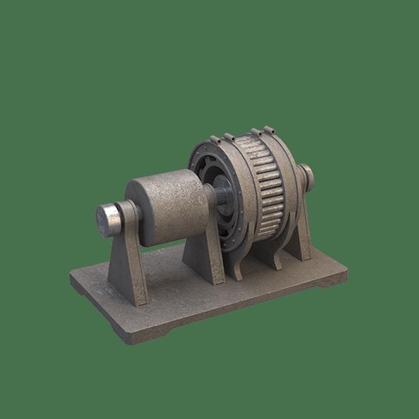 Industrial Electric Motor - 3DOcean Item for Sale