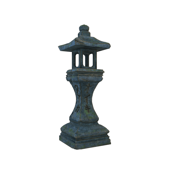 Japanese Stone Lantern - 3DOcean Item for Sale