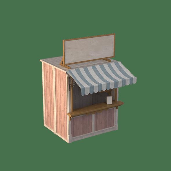 Wooden Stall Kiosk