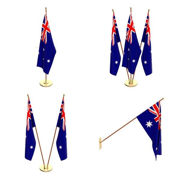 Australia Flag Pack - 3DOcean Item for Sale