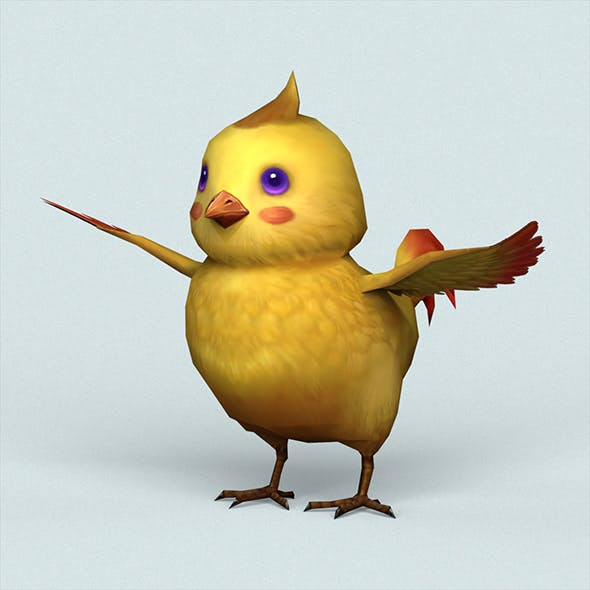 Fantasy Baby Bird - 3DOcean Item for Sale