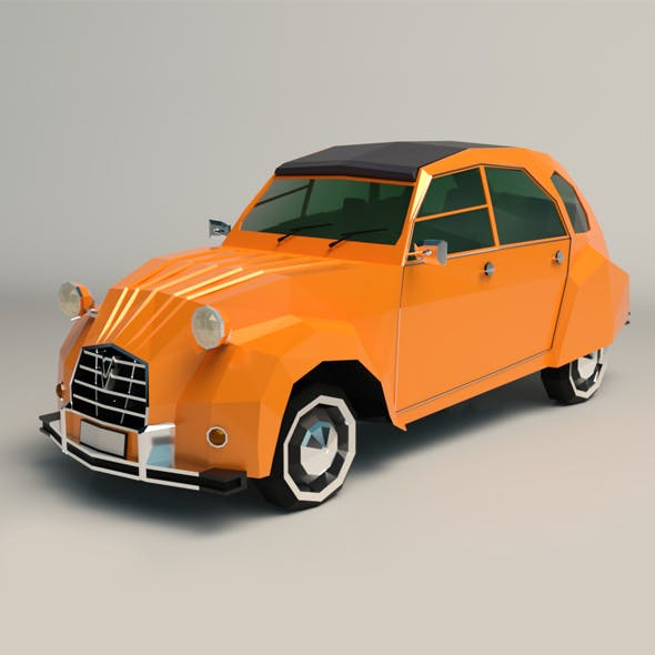 Low Poly City Car 04 - 3DOcean Item for Sale