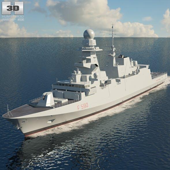 FREMM Frigate - 3DOcean Item for Sale