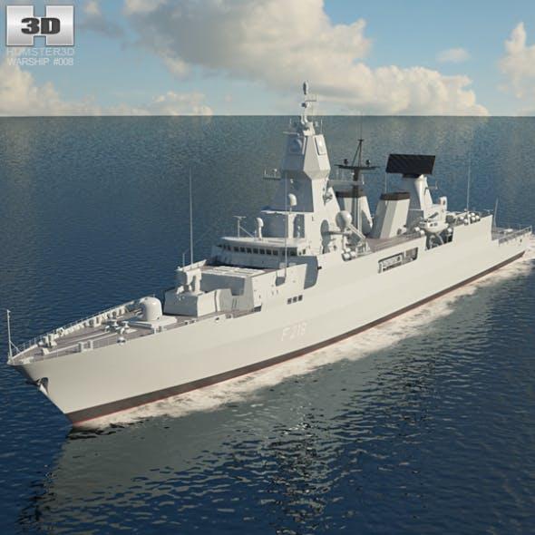 Sachsen class frigate - 3DOcean Item for Sale