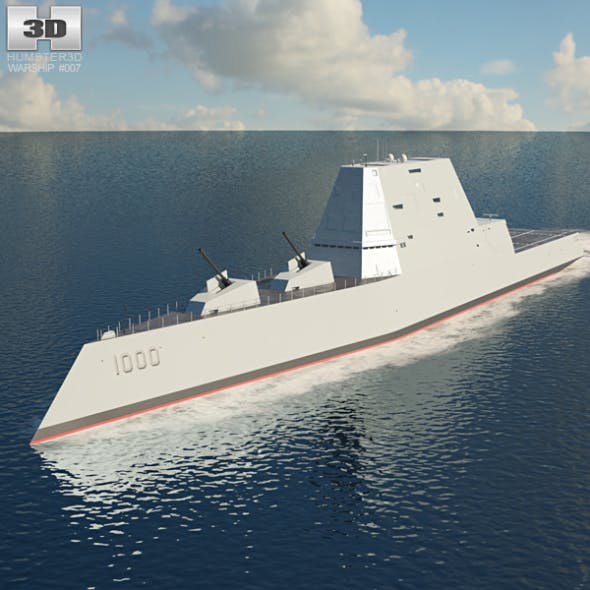 USS Zumwalt - 3DOcean Item for Sale