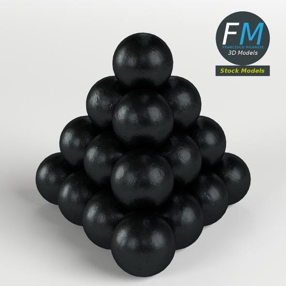Cannonballs stack 2 - 3DOcean Item for Sale