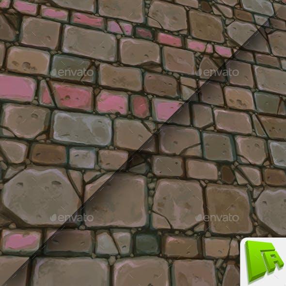 Tan Chunky Stone Wall