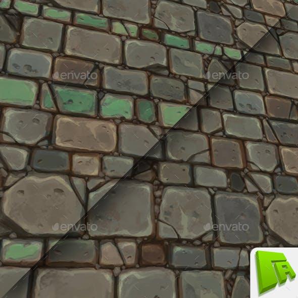 Aqua Chunky Stone Wall - 3DOcean Item for Sale