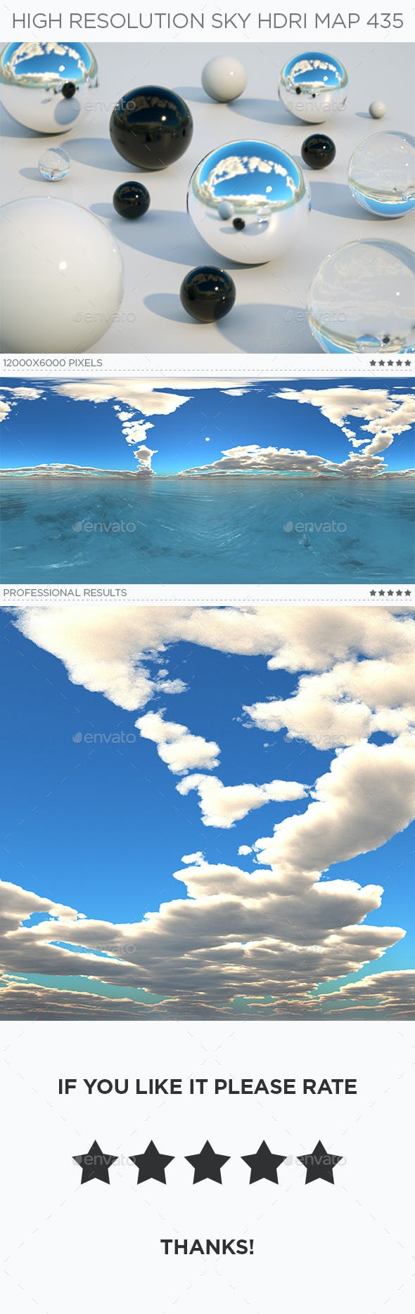 High Resolution Sky HDRi Map 435 - 3DOcean Item for Sale