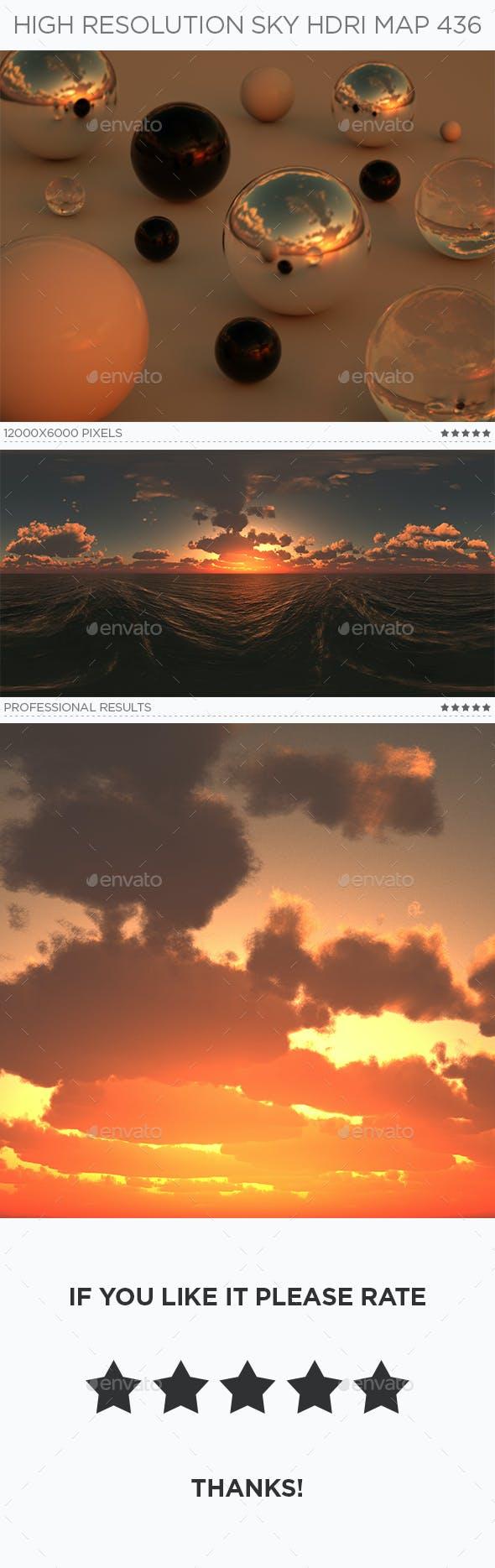 High Resolution Sky HDRi Map 436 - 3DOcean Item for Sale