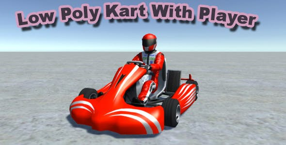Low Poly Kart With Player 8 - 3DOcean Item for Sale