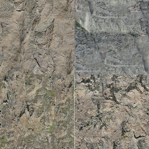 Set of 20 Seamless Cliffs Textures Volume 1
