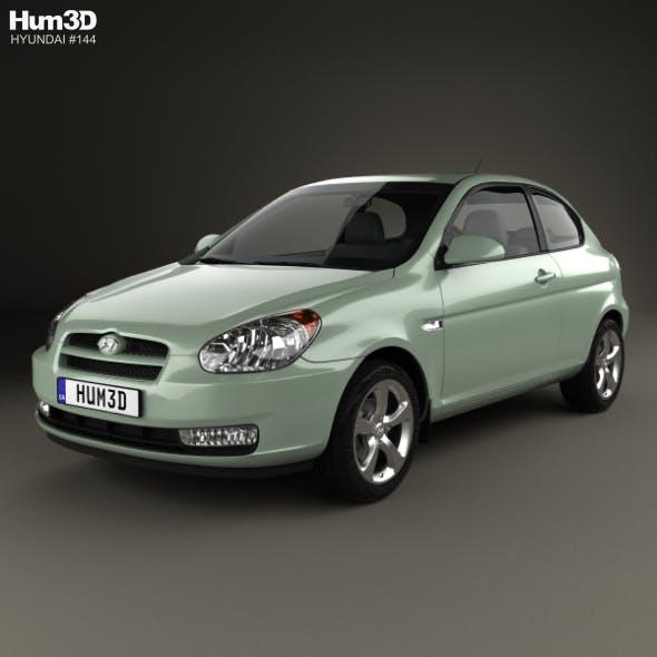 Hyundai Accent (MC) hatchback 3-door 2006 - 3DOcean Item for Sale