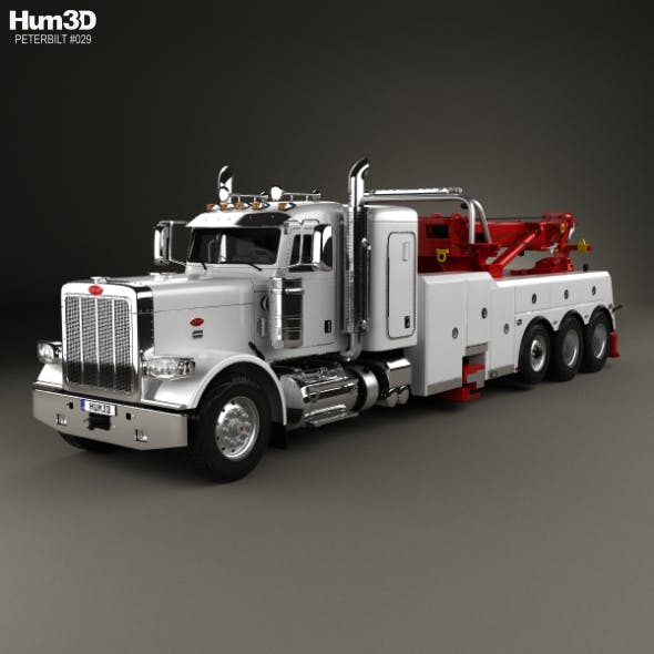 Peterbilt 388 Wrecker Truck 2014 - 3DOcean Item for Sale