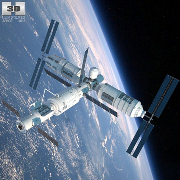 Tiangong-1 Space Station - 3DOcean Item for Sale