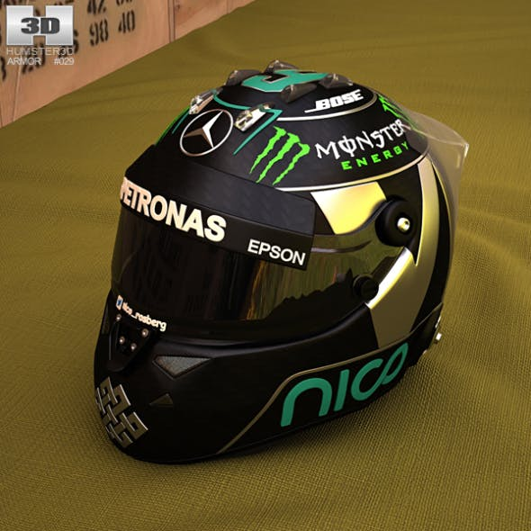 F1 Helmet - 3DOcean Item for Sale