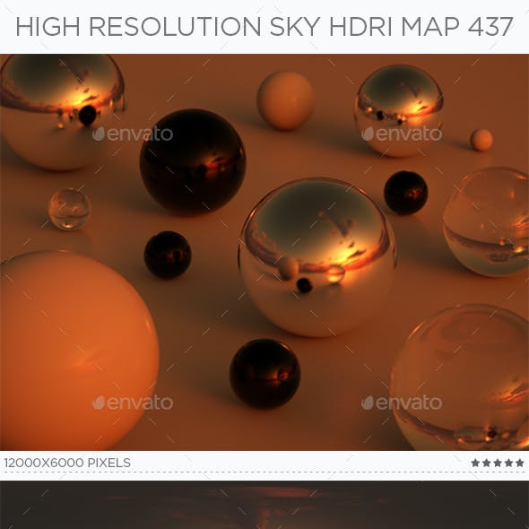 High Resolution Sky HDRi Map 437