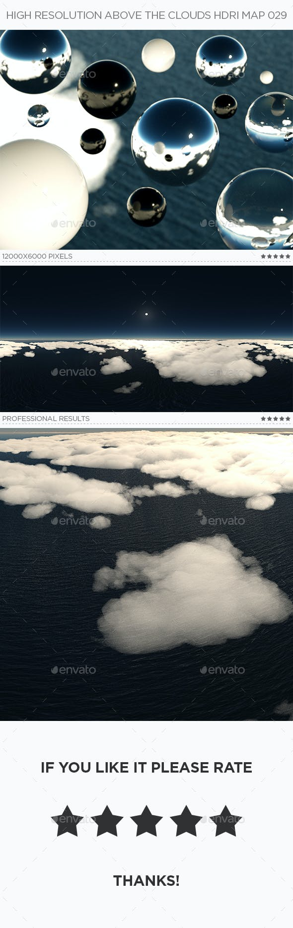 High Resolution Above The Clouds HDRi Map 029 - 3DOcean Item for Sale