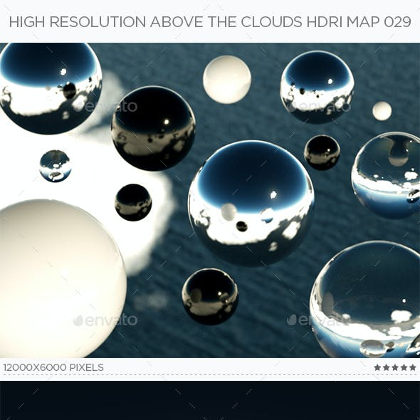 High Resolution Above The Clouds HDRi Map 029